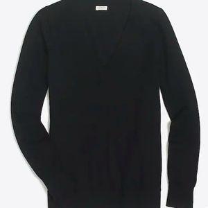 J. Crew Factory Cotton V-Neck Sweater